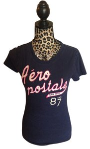 Aéropostale T Shirt Blue pink silver white