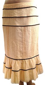 Marc Jacobs Lace Ruffled Skirt Yellow / Peach