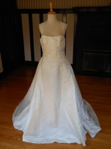 Pronovias Ivory Satin Datomir Destination Wedding Dress Size 14 (L)