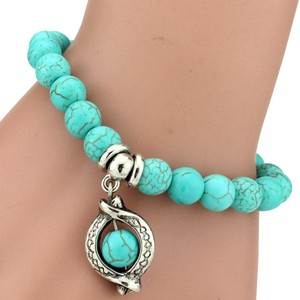 Other Brand new: Bohemian turquoise charm bracelet.