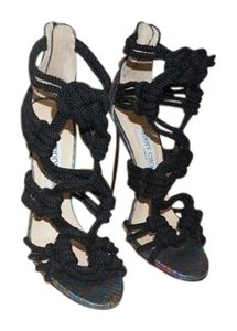 Jimmy Choo Rope Snakeskin black Sandals