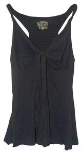 Free People Tie Racer-back Elastic Top Black