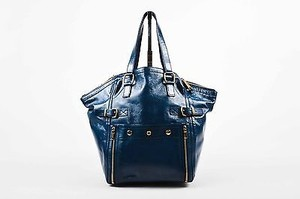 Saint Laurent Yves Rive Tote in Blue