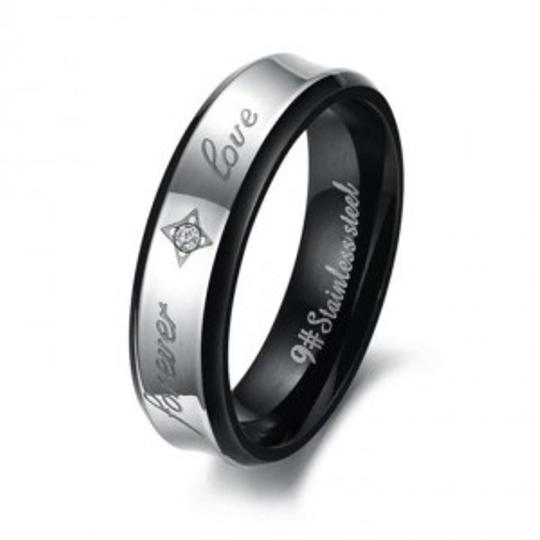 Preload https://item5.tradesy.com/images/silverblack-forever-love-free-shipping-men-s-wedding-band-151129-0-0.jpg?width=440&height=440
