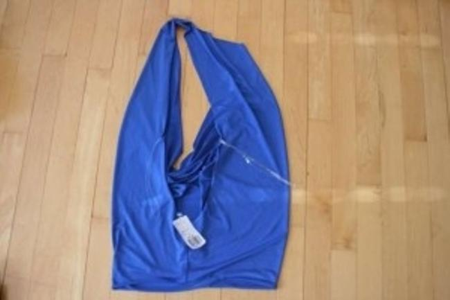 Forever 21 Knit Open Back Royal Blue Halter Top