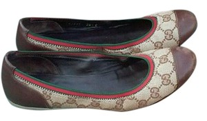 Gucci Brown/Red/Green Flats
