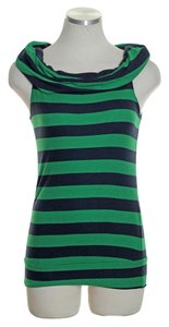 Bordeaux Knit Striped Top Green Blue