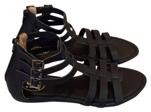 Carrini IF Gladiator Strappy Summer Black Sandals