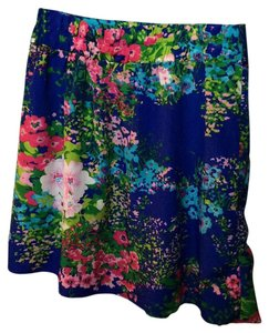 Francesca's Mini Skirt Blue floral