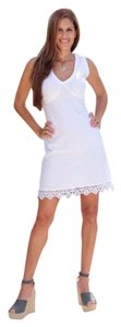 Lirome short dress White Bodycon Bohemian Cottage Chic Embroidered Summer on Tradesy