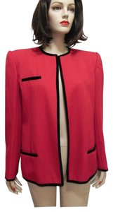Valentino Red/Black Trim Blazer