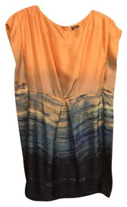Vince Camuto short dress Orang with dark&light blue on Tradesy