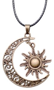 Other Brand New Gold Plated Crescent Moon And Sun Charm Pendant..
