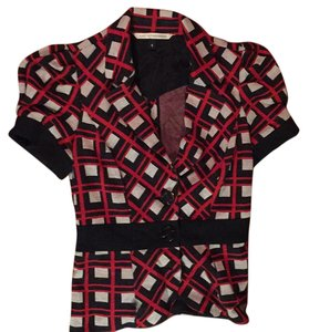 Diane von Furstenberg Black, red and white. Blazer