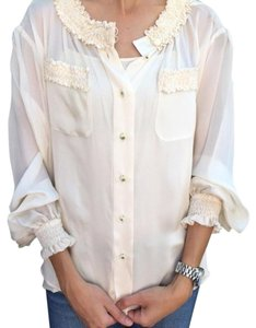 Chanel Ruffle Designer Top ivory
