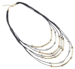 Other Brand New Leather Rope Multi Layered Long Necklace.