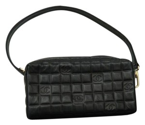 Chanel Leather Wristlet in BLACK