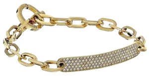 Michael Kors Nwt Michael Kors Brilliance Gold Tone And Pave ID Toggle Bracelet 7