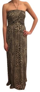 Laundry by Shelli Segal Wedding Gown Animal Print Strapless Dress