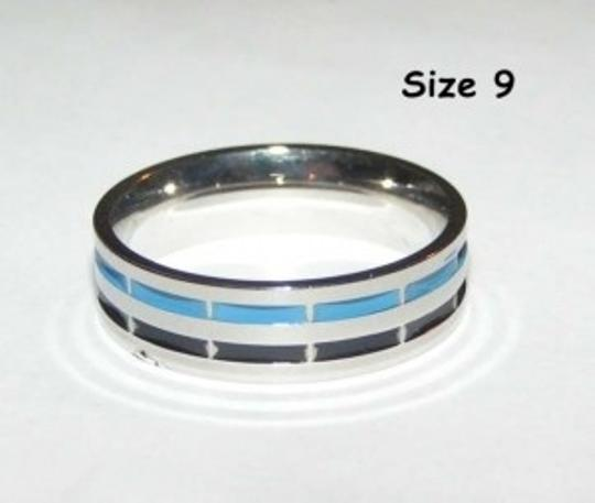 Silver/Blue/Black Bogo Free Mix and Match Bundle Your Way Free Shipping Men's Wedding Band