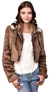Free People Faux Beaded Fur Coat