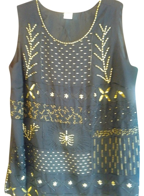 Other Formal Beaded Stylish Top Black