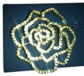 Avon Rhinestone Rose Pin with Dozens of Clear Rhinestones Image 0