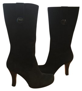 Franco Sarto Boot Party Night Out Black Suede Boots