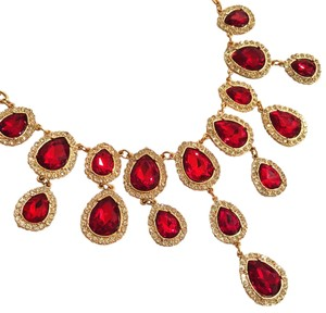RSVP Brand New RSVP Crown Jewels Ruby Statement Necklace