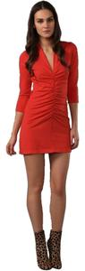 Friend of Mine short dress Red Stretch Sleeve Size 2 Xs Small Women Clothing Versatile Bodycon V-neck on Tradesy