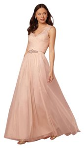 Anthropologie Blush Amsale Bridesmaids Chiffon G629c Dress