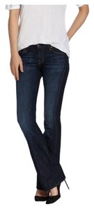 7 For All Mankind Fancy Elegant Denim Boot Cut Jeans-Dark Rinse