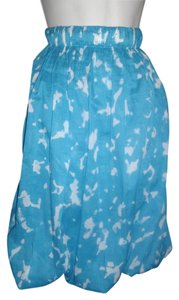 TSE Bubble Hem Skirt Blue and white