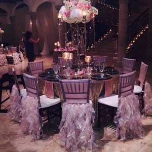Blush Color Chiavari Chair Cover