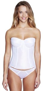 David's Bridal Dominique White Satin Torsolette