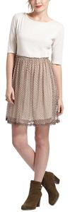 Anthropologie short dress Taupe Agnes Dot Chemise on Tradesy