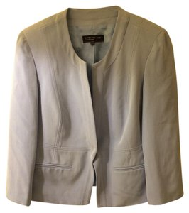 Jones New York 100% Silk Baby Blue Office Attire Wardrobe Blue Jacket Light Blue Blazer