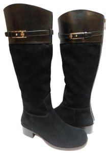 Tory Burch Leather/suede Riding Black Boots