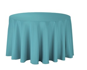 """Teal 108"""" Round Tablecloth"""