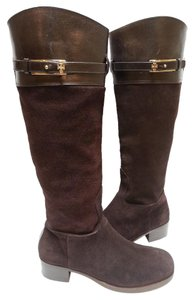 Tory Burch Leather/suede Riding Brown Boots