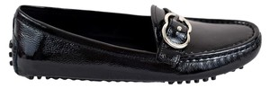 Gucci Womens Moccasin 370616 Women Black Flats