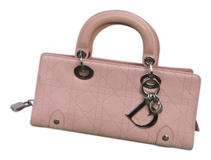 Dior Clutch Handbag Tote in light Pink