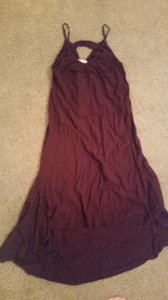 Burgundy Maxi Dress by Cotton On Maxi Scoop Back High