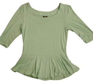 BouBou Peplum Top Mint green