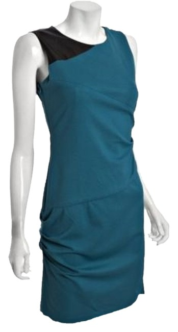 Item - Teal Blue Sheath Mid-length Work/Office Dress Size 8 (M)