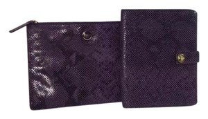 Coach 2 COACH Leather Clutch Purse and Tech Pouch + Ipad Folio Case NEW