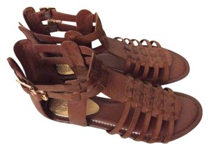 Vince Camuto Leather Gladiator Brown Sandals