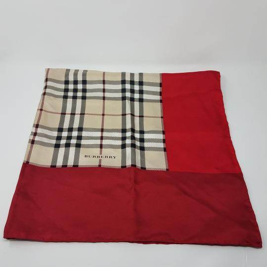 Burberry Pink, beige multicolor Nova Check plaid Burberry silk scarf Image 1