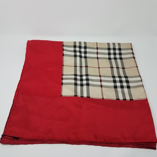 Burberry Pink, beige multicolor Nova Check plaid Burberry silk scarf Image 5