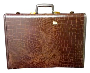 Samsonite Brown faux Alligator embossed Travel Bag